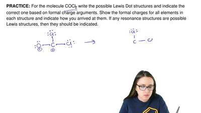 For the molecule COCl2 write the possible Lewis Dot structures and indicate th...