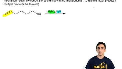 Determine the anticipated product(s) for the reaction below. Using correct mec...