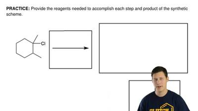 Provide the reagents needed to accomplish each step and product of the synthet...