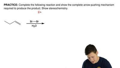 Complete the following reaction and show the complete arrow-pushing mechanism ...