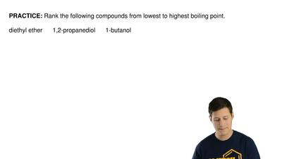 Rank the following compounds from lowest to highest boiling point.  diethyl et...