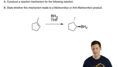 A. Construct a reaction mechanism for the following reaction.  B. State whe...
