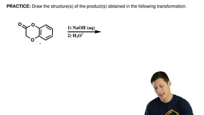 Draw the structure(s) of the product(s) obtained in the following transformati...