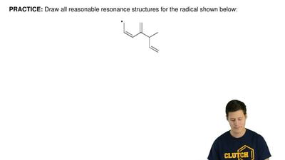 Draw all reasonable resonance structures for the radical shown below: ...