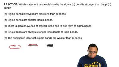 Which statement best explains why the sigma (σ) bond is stronger than the pi (...