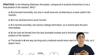 In the following Robinson Annulation,compound A could beformed but isnot a ...