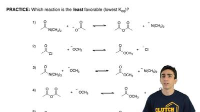 Which reaction is the  least favorable (lowest Keq)? ...