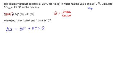 The solubility product constant at 25°C for AgI (s) in water has the value of ...