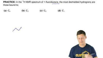 In the  1H NMR spectrum of 1-fluorobutane, the most deshielded hydrogrens are ...