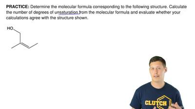 Determine the molecular formula corresponding to the following structure. Calc...