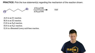 Pick the true statement(s) regarding the mechanism of the reaction shown. ...