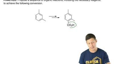 Propose a sequence of organic reactions, including the necessary reagents, to ...