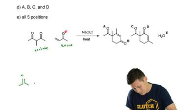 For the following reaction, two products are formed, in addition to water. If ...