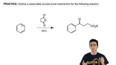 Outline a reasonable curved arrow mechanism for the following reaction. ...