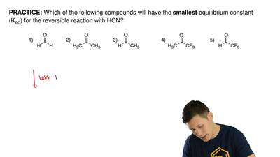 Which of the following compounds will have the  smallest equilibrium constant ...
