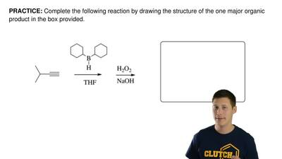 Complete the following reaction by drawing the structure of the one major orga...